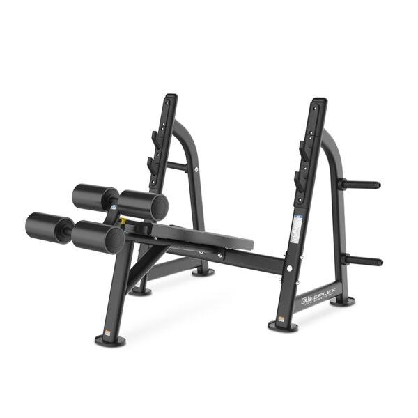 Reeplex commercial decline bench press olympic-Black