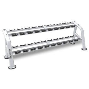 commercial 10 pair 2 tier dumbbell rack-01-01