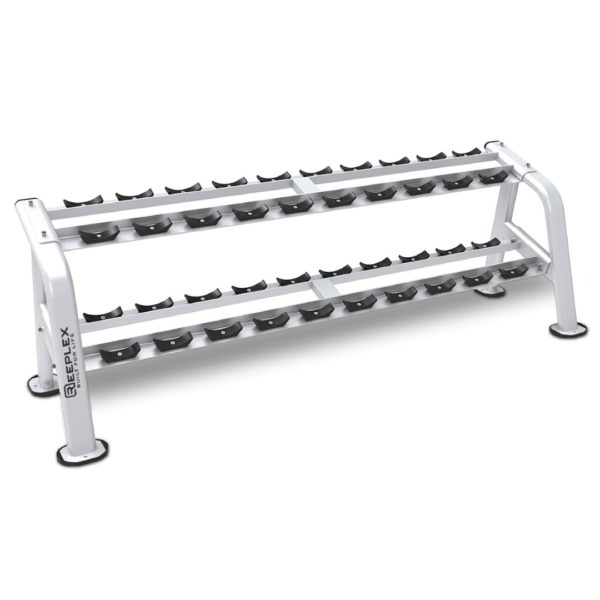 commercial 10 pair 2 tier dumbbell rack-01-01