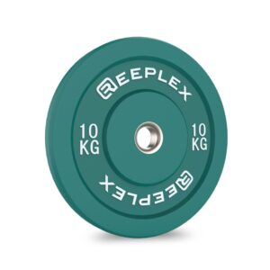 10kg bumper plate reeplex pro coloured bumpers