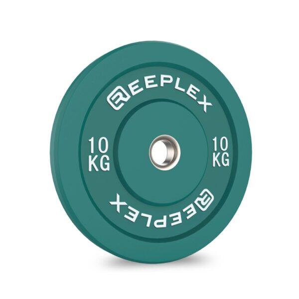 10kg bumper plate reeplex pro coloured bumpers