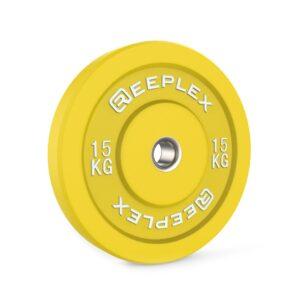 15kg bumper plate reeplex pro coloured bumpers