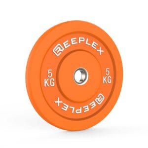 5kg bumper plate reeplex pro coloured bumpers