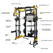 reeplex cbtpl functional trainer with smith machine squat rack & cable attachments key FEATURES-01