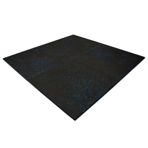 Rubber Gym Tiles Blue Fleck