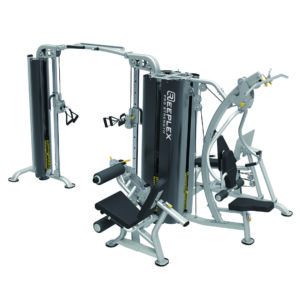 5 station commercial Multi-gym with leg press