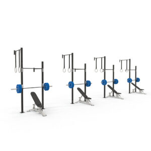 reeplex 4 squat cell wall mounted rig