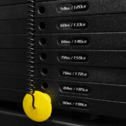 Pin loaded weight stack 90kg