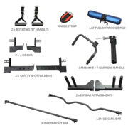 R5 functional trainer attachments included